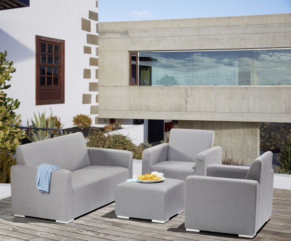 TIAS Lounge Gartenmöbel Sitzgruppe Sunbrella grau - 609184