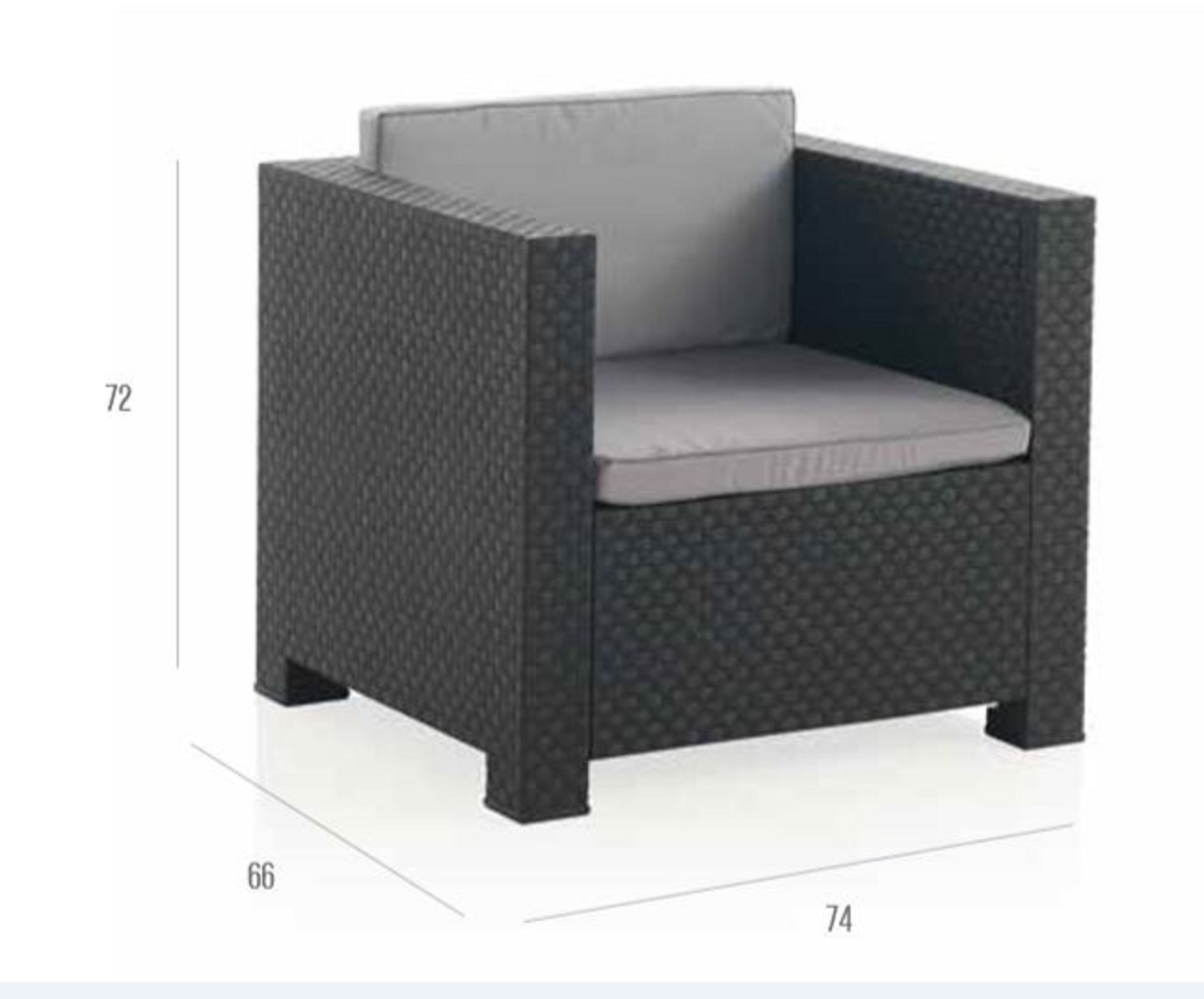 Tete A Tete Gartenmobel Balkon Lounge Rattan Optik Anthrazit