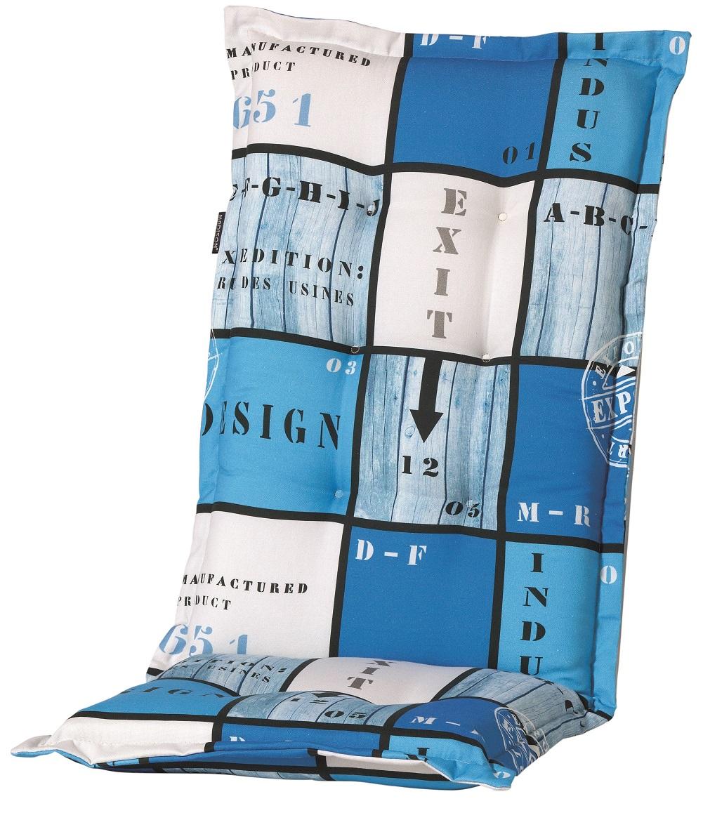 a033 hochlehner gartenstuhl auflagen 120x50x8cm blau kariert f r st hle mit hoher lehne. Black Bedroom Furniture Sets. Home Design Ideas