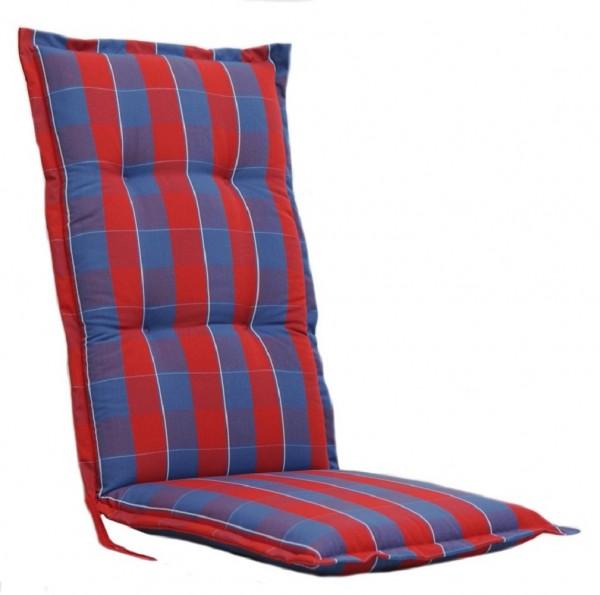 FLORENCE 2095 Hochlehner Gartenstuhl Auflagen 8cm rot blau