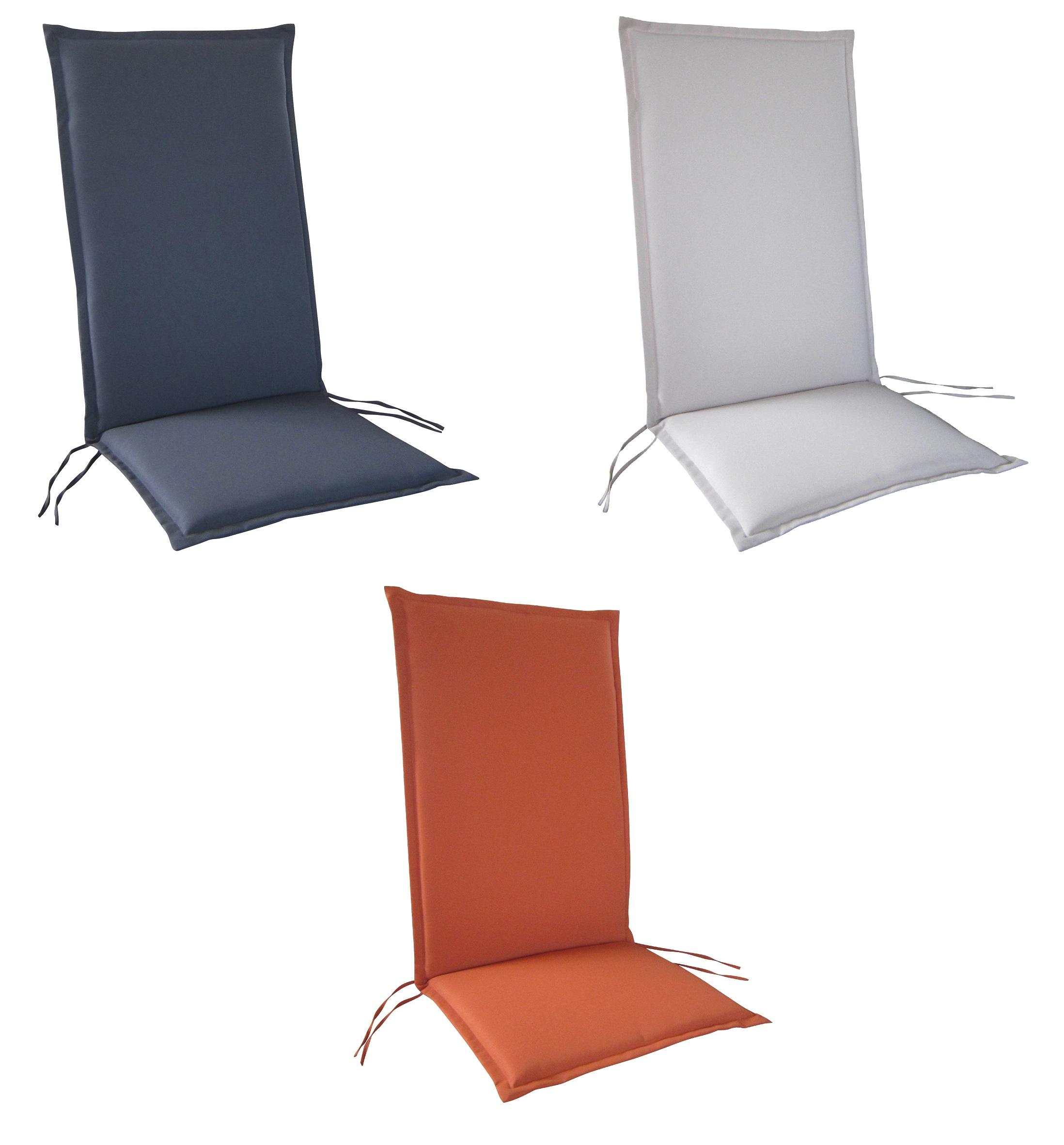 hochlehner gartenstuhl auflagen 116x46x4cm rei verschluss f r st hle mit hoher lehne. Black Bedroom Furniture Sets. Home Design Ideas