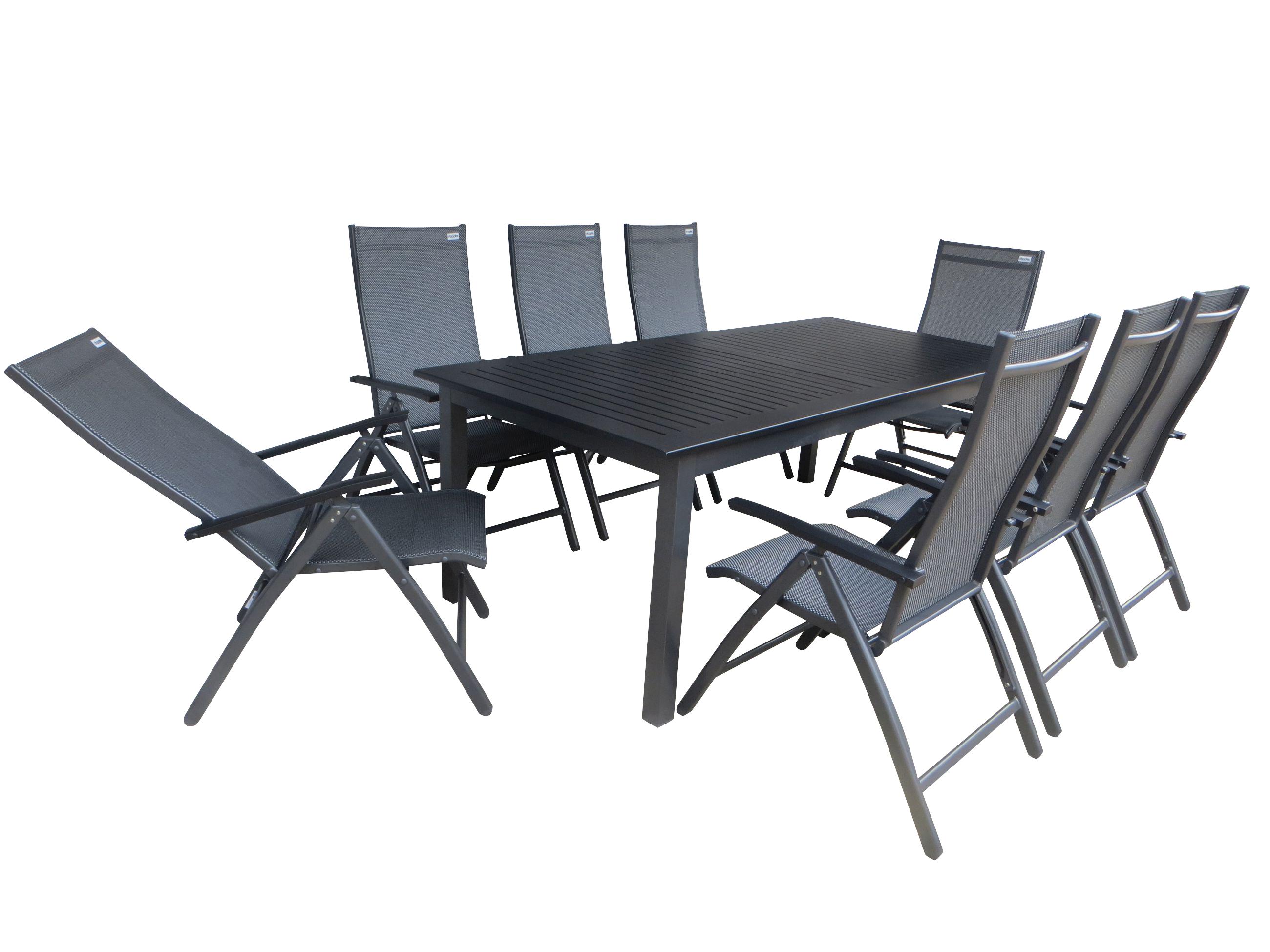 jaipur alu gartenm bel set sitzgarnitur 11tlg anthrazit. Black Bedroom Furniture Sets. Home Design Ideas