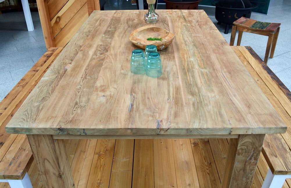 Old Teak Holz Gartentisch Holztisch Teaktisch 170x100cm