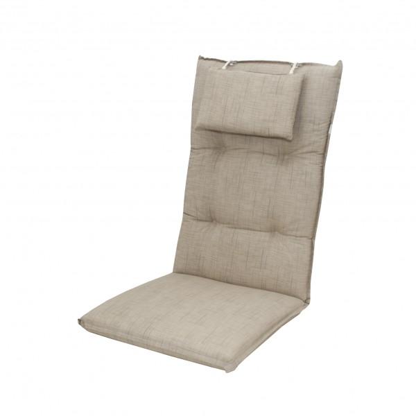 6995 hochlehner gartenstuhl auflagen 8cm kopfkissen natur uni f r st hle mit hoher lehne. Black Bedroom Furniture Sets. Home Design Ideas