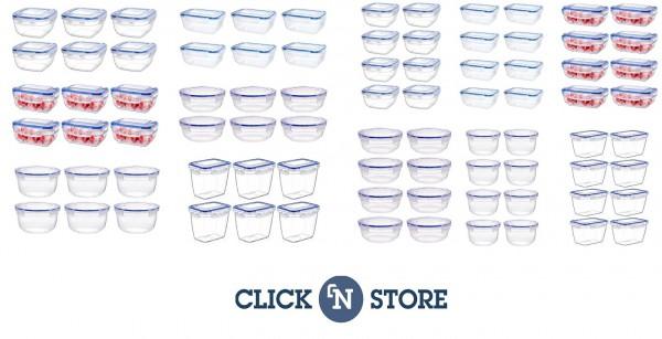 Click`n Store Frischhaltedosen-Sets - Vorratsdosen 400-2300ml