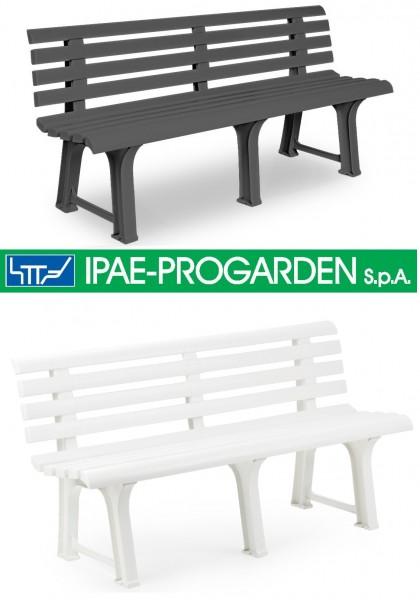 ORCHIDEA 3er Gartenbank aus Kunststoff ergonomische Sitzbank
