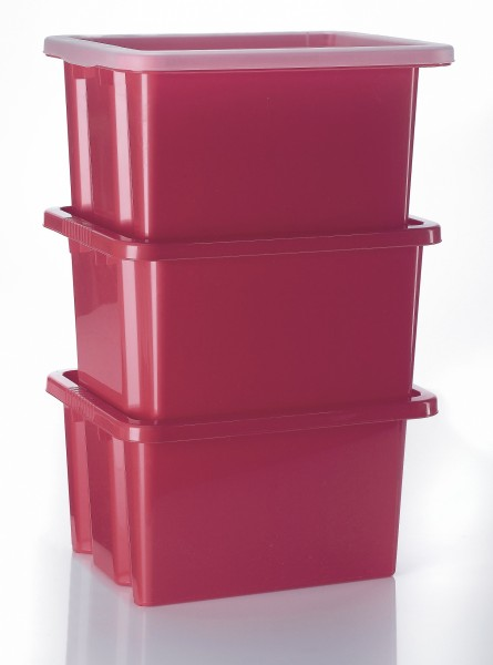 3 Stapelboxen 42,5x33x23,5cm