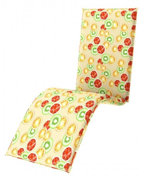 7903 Relaxliegenauflage Relaxsessel Auflage Kissen 6cm gelb
