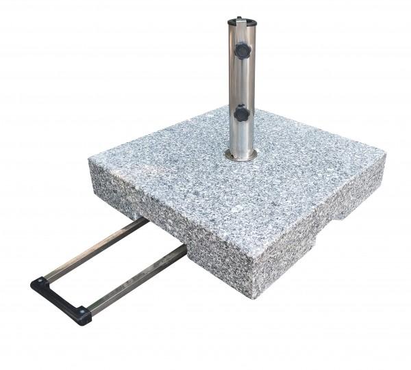 PHG 50kg Schirmständer Granitständer - Trolley-Funktion & Rollen
