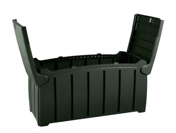 HUGO Kunststoff Auflagenbox Kissenbox - anthrazit
