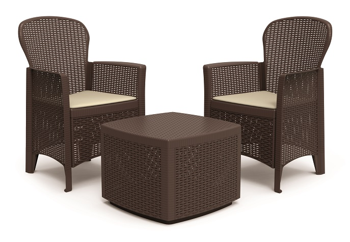 tree gartenm bel lounge balkon set rattan optik braun. Black Bedroom Furniture Sets. Home Design Ideas
