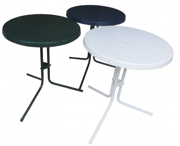 Bistrotisch Gartentisch Balkontisch mit Kunststoffplatte Ø 60cm