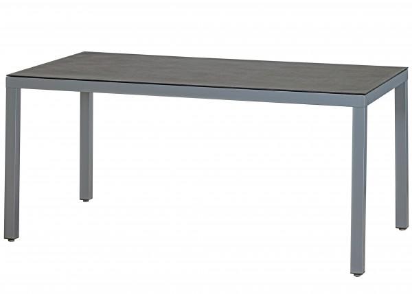ARLENA Alu-Tisch Gartentisch 160x90cm silber ( D71105 )