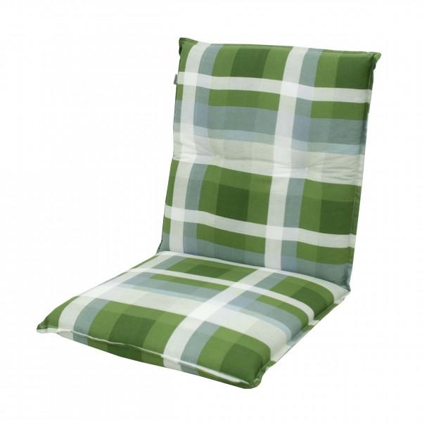 8606 Niederlehner Gartenstuhl Auflage 8cm niedrig grün kariert