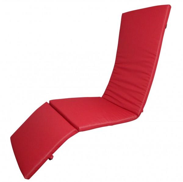 16-8916 Relaxliegenauflage Liege Relaxsessel Auflage Kissen rot