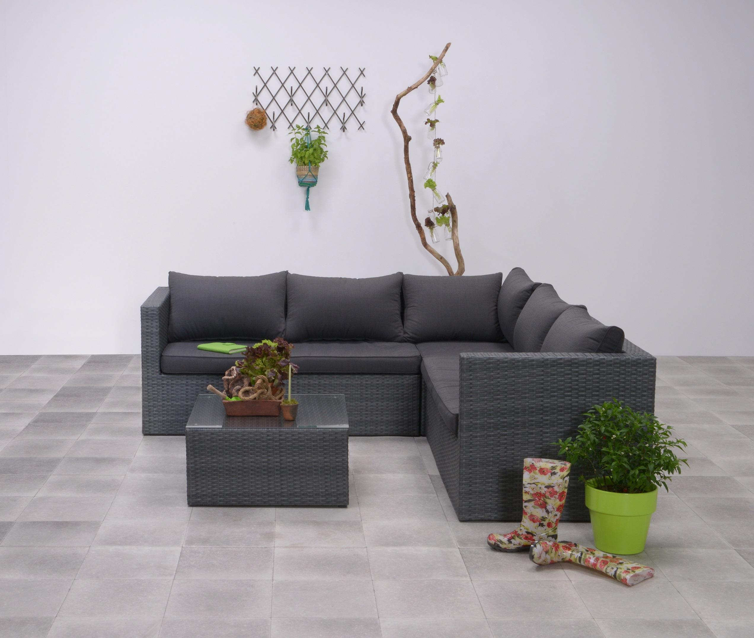 ulm polyrattan ecklounge gartenm bel sitzgruppe grau lounge m bel garten. Black Bedroom Furniture Sets. Home Design Ideas