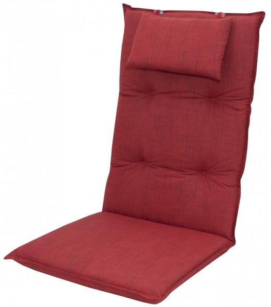 6998 Hochlehner Gartenstuhl Auflagen 8cm Kopfkissen rot