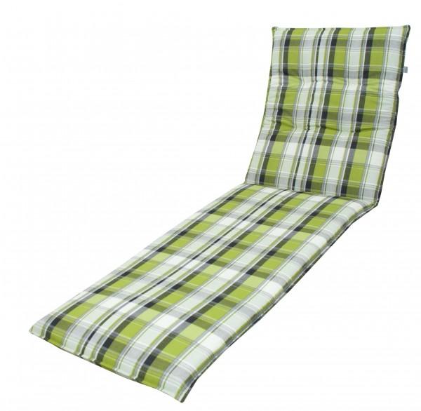 5336 Rollliegenauflage Gartenliege 190x60x7cm grün kariert