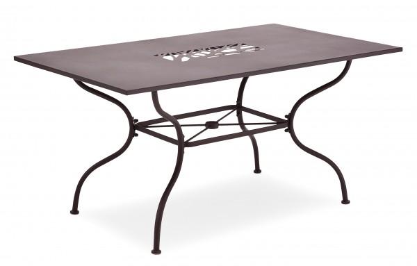 ALGIRI Gartentisch 150x90cm braun