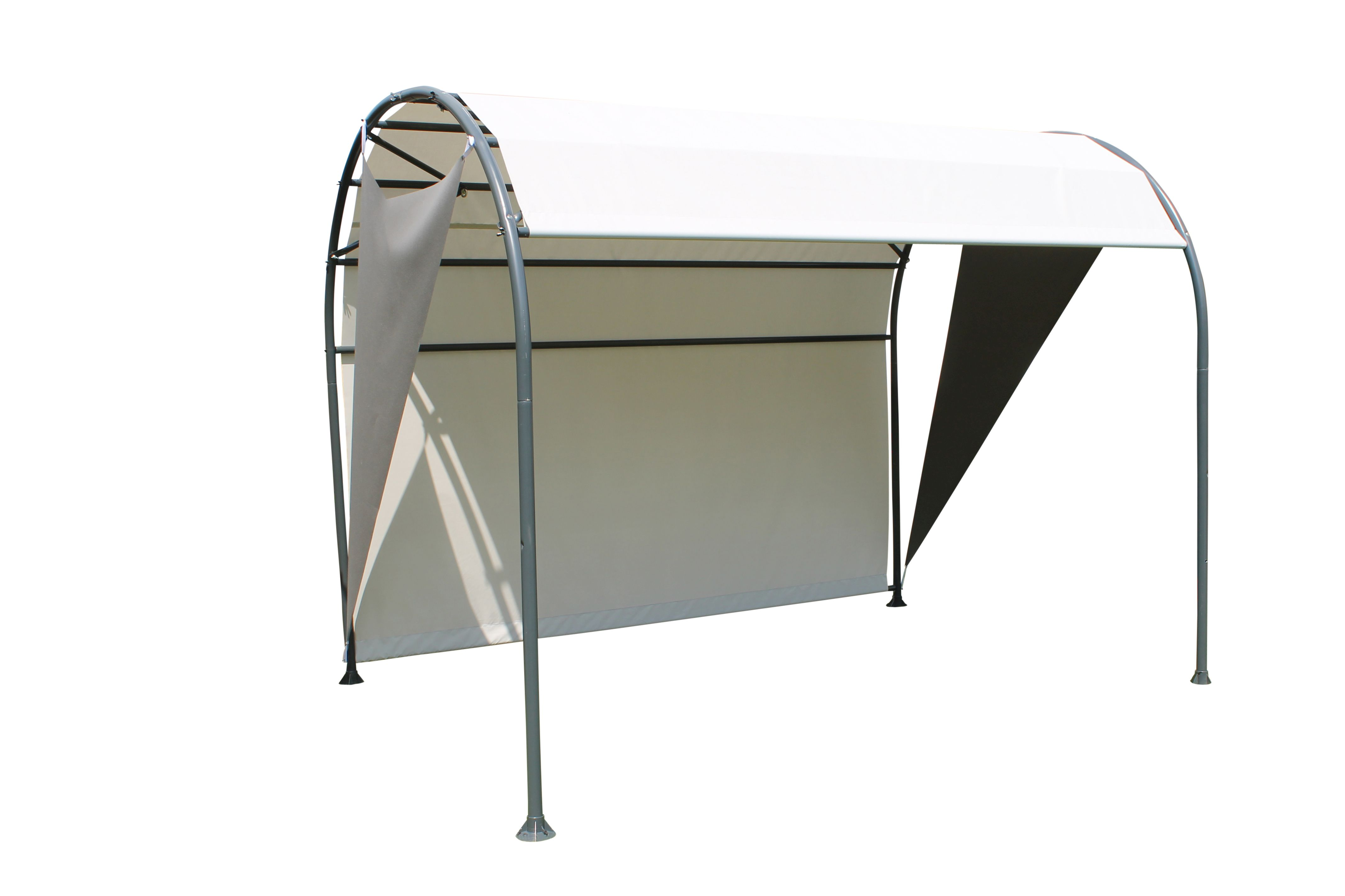 entspannungsoase pavillon mit h ngeliege sonnensegel. Black Bedroom Furniture Sets. Home Design Ideas