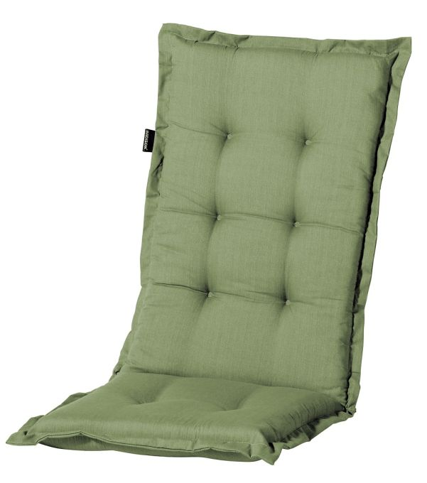 a044 hochlehner gartenstuhl auflagen 120x50x8cm gr n uni f r st hle mit hoher lehne auflagen. Black Bedroom Furniture Sets. Home Design Ideas