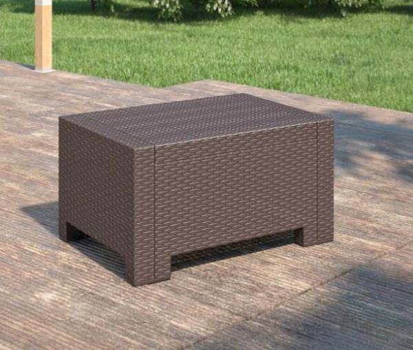 Kunststoff Loungetisch Beistelltisch 74x57x35cm - 9015.3 braun
