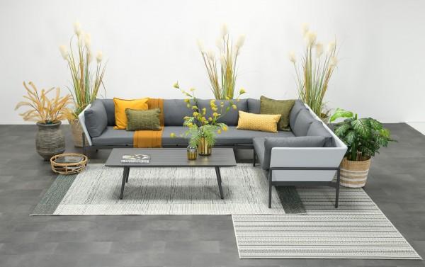 MAUMEE Alu Ecklounge Gartenmöbel Sitzgruppe rechts grau