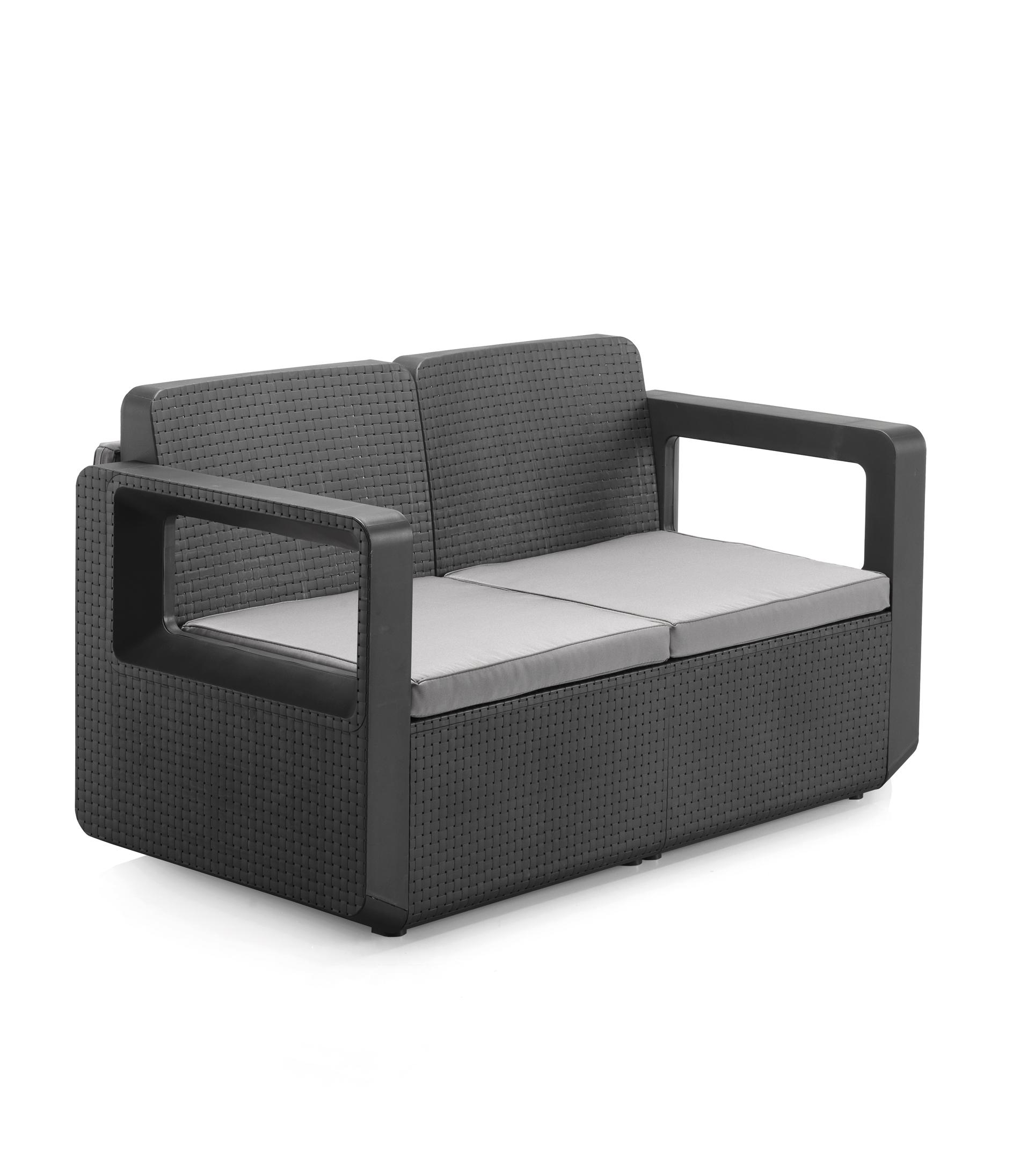 Häufig VENUS Gartenmöbel Designer Lounge Set Rattan-Optik anthrazit UG65