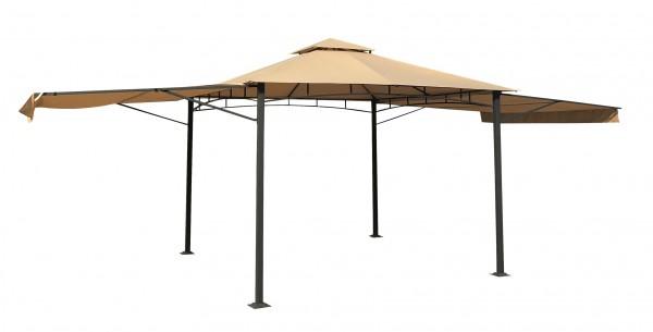 MAUII Luxus Pavillon 330x330cm mit 2 ausklappbaren Seitenteilen