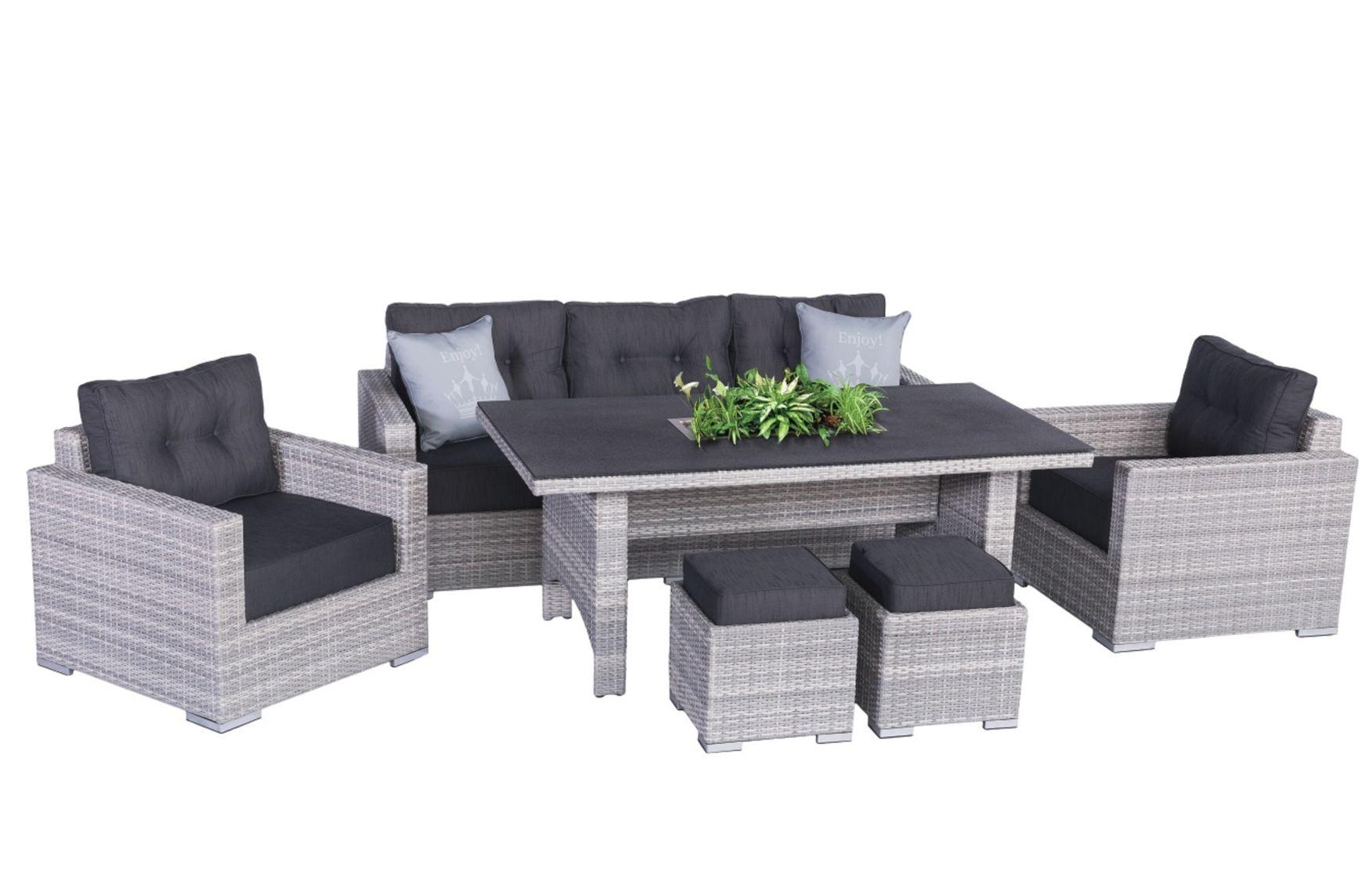 sardino ice polyrattan lounge gartenm bel set inkl einsatz lounge m bel garten. Black Bedroom Furniture Sets. Home Design Ideas