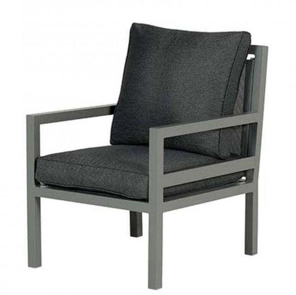 BLAKES Loungesessel Sessel mit Alu-Gestell - anthrazit