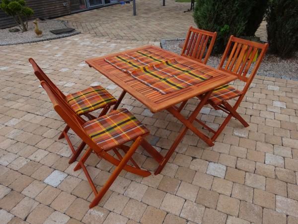 JESOLO Balkon-Set, 5-teilig, Eukalyptus Holz Gartenmöbel Gruppe