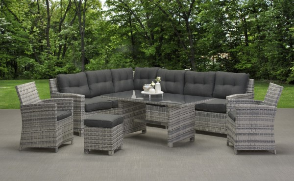 aboyne polyrattan ecklounge gartenm bel gruppe cloudy grey. Black Bedroom Furniture Sets. Home Design Ideas