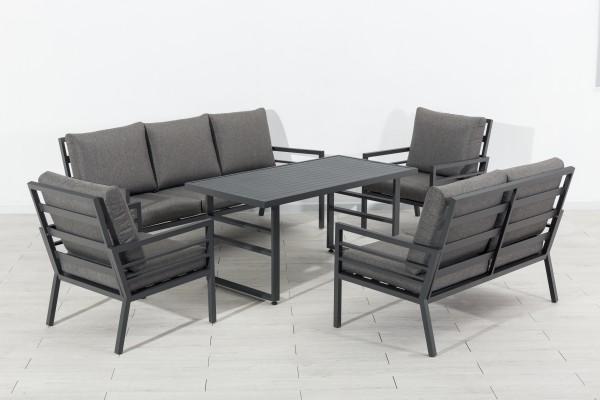 MANHATTAN Alu Lounge Set Gartenmöbel Sitzgruppe