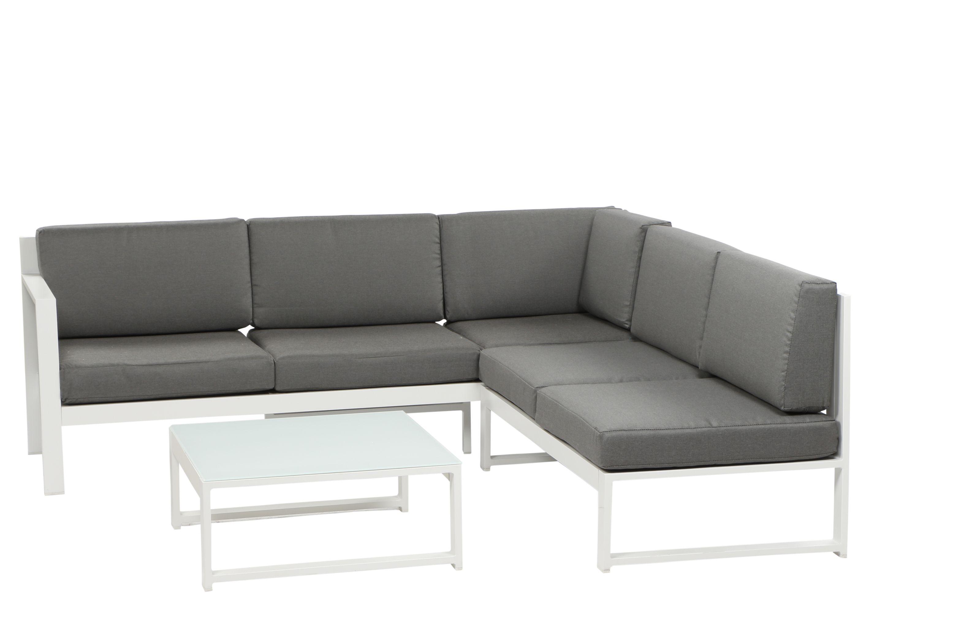 filio aluminium ecklounge gartenm bel set sitzgruppe wei. Black Bedroom Furniture Sets. Home Design Ideas