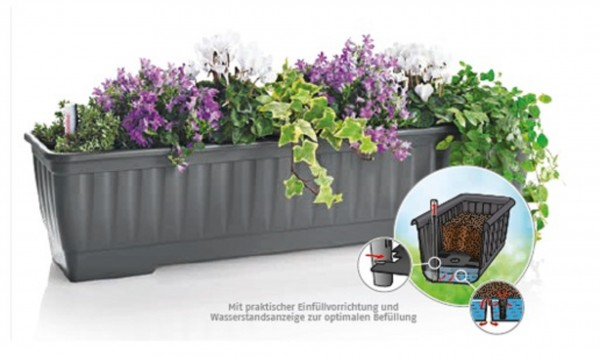 WATER Blumenkasten mit Speicher - Balkonkasten 40cm-80cm