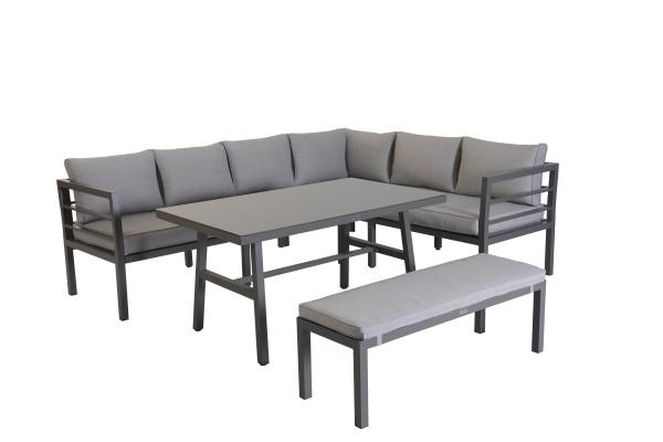 BLAKES Alu Ecklounge Gartenmöbel Sitzgruppe rechts braun