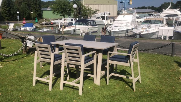 NAUTIC Alu Bar Set Gartenmöbel Sitzgarnitur inkl. Auflagen