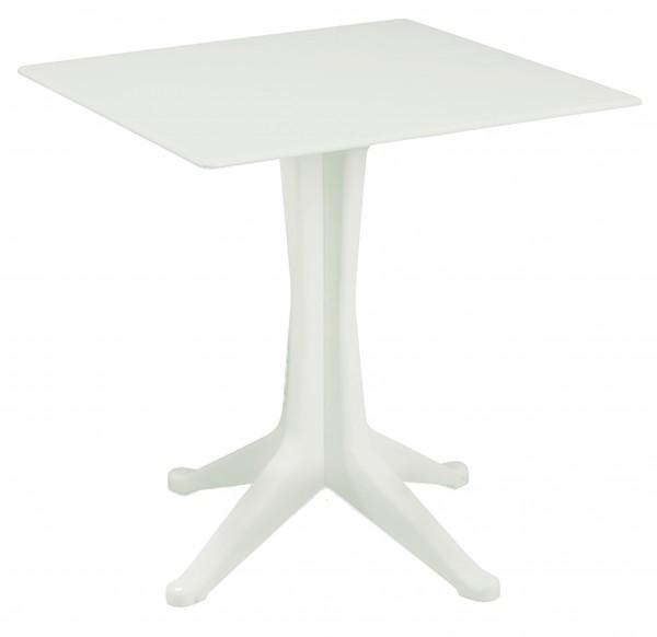 PONENTE Gartentisch aus Kunststoff 70x70cm - weiss